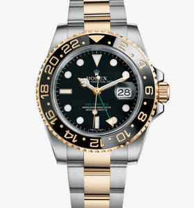 Replica Rolex GMT - Master II Watch : Yellow Rolesor - yhdistelm