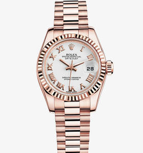 Replica Rolex Lady-Datejust Watch: 18 ct Everose gold – M179175F-0031