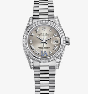 Replica Rolex Lady- Datejust Watch: 18 ct Weißgold - M179159 -0094
