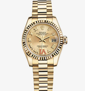 Replica Rolex Lady - Datejust Watch : 18 ct gult guld - M179178 - 0261
