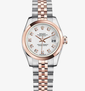 Replica Rolex Lady-Datejust Watch: Everose Rolesor - combination of 904L steel and 18 ct Everose gold – M179161-0033