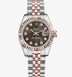 Replica Rolex Lady- Datejust Watch: Everose Rolesor - Kombination aus Edelstahl 904L und 18 Karat Gold Everose - M179171 -0019