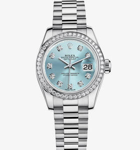 Replica Rolex Lady - Datejust horloge : Platinum - M179136 - 0017