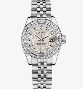 Rolex Lady-Datejust Watch: Rolesor Blanc - combinaison d'acier 904L et or blanc 18 ct - M179384 -0011