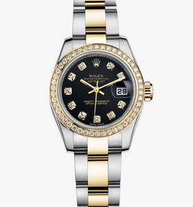 Rolex Lady-Datejust Watch: Rolesor jaune - combinaison d'acier 904L et or jaune 18 ct - M179383 -0030
