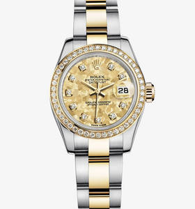 Replica Rolex Lady- Datejust Watch : Gul Rolesor - kombination a
