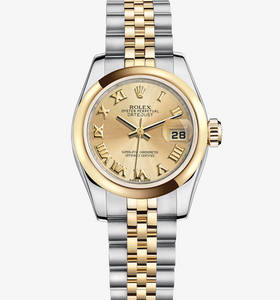 Rolex Lady-Datejust Watch: Rolesor jaune - combinaison d'acier 904L et or jaune 18 ct - M179163 -0137