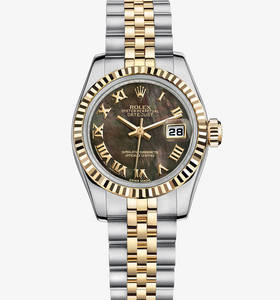 Replica Rolex Lady-Datejust Watch: Yellow Rolesor - combination of 904L steel and 18 ct yellow gold – M179173-0084