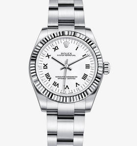 Macasamhail Rolex Oyster Síor 31 mm Watch : Rolesor White - meas