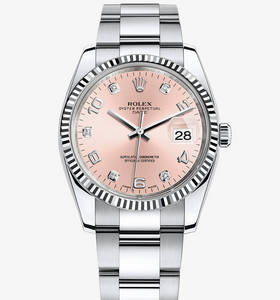 Replica Rolex Oyster Perpetual Date Watch: White Rolesor - combination of 904L steel and 18 ct white gold – M115234-0009