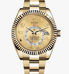 Replica Rolex Sky-Dweller Watch: 18 ct yellow gold – M326938-0002