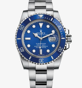 Replica Rolex Submariner Date Watch : 18 karat hvitt gull - M116619LB -0001