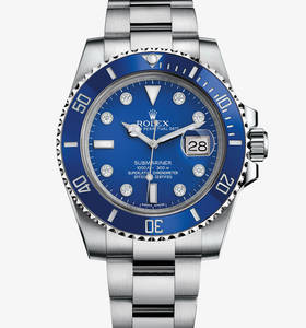 Replica Rolex Submariner Date Watch : 18 ct vitguld - M116619LB - 0002
