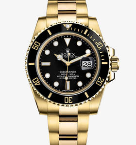 Rolex Submariner Date Watch: or jaune 18 carats - M116618LN -0001
