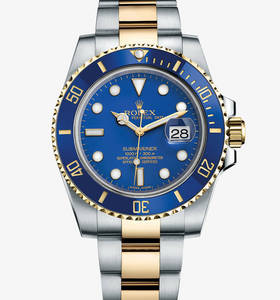 Replica Rolex Submariner Date Watch: Yellow Rolesor - Kombination aus Edelstahl 904L und 18 Karat Gelbgold - M116613LB -0001