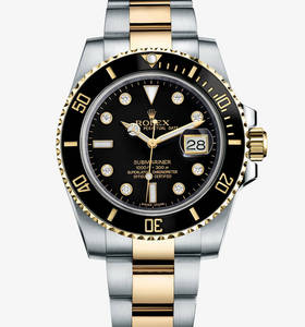 Rolex Submariner Date Watch: Rolesor jaune - combinaison d'acier 904L et or jaune 18 ct - M116613LN -0003