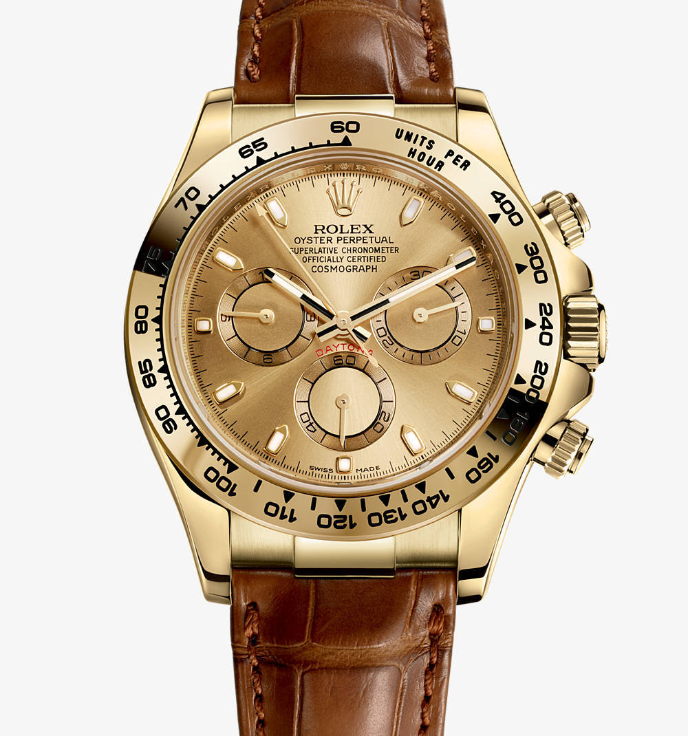 Replica Rolex Cosmograph Daytona Watch: 18 ct yellow gold – M116518-0131