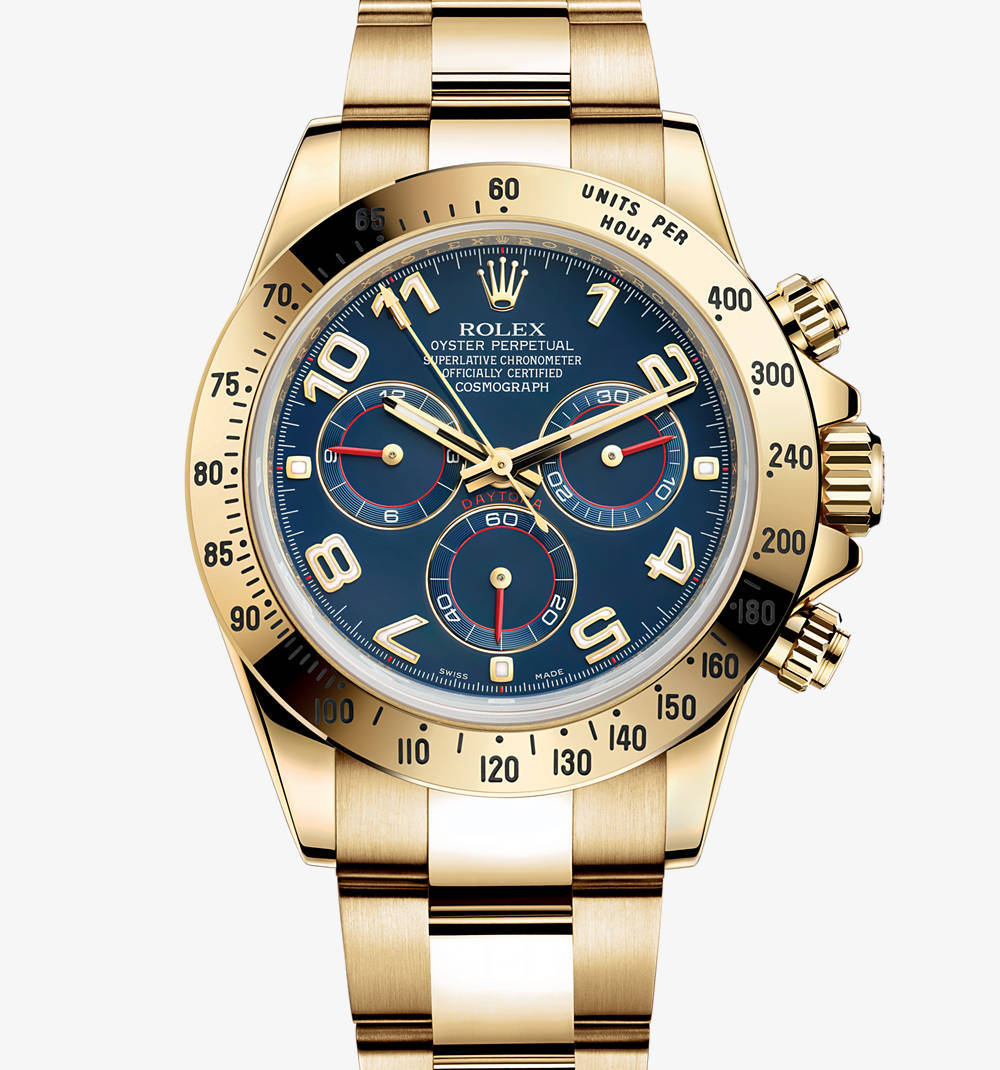 Replica Rolex Cosmograph Daytona Watch: 18 ct yellow gold – M116528-0037