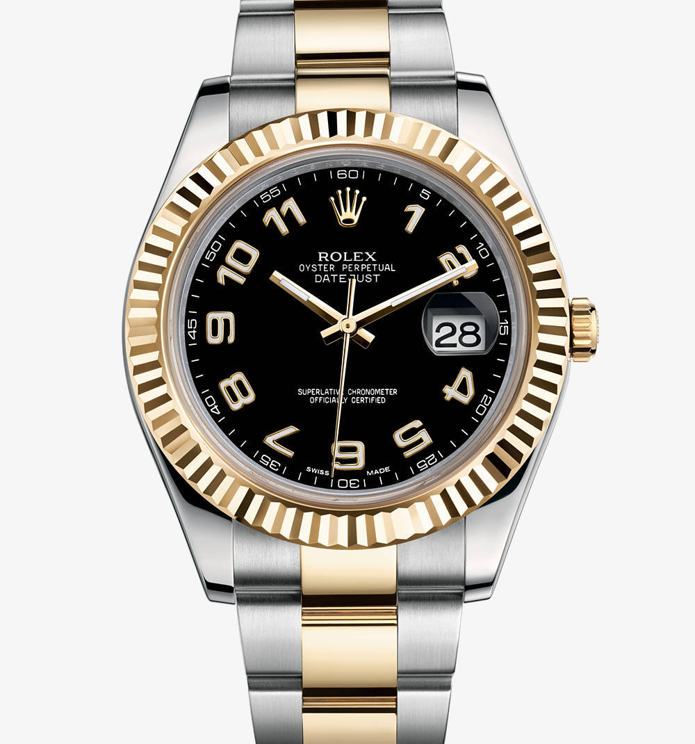 Replica Rolex Datejust II Watch: Yellow Rolesor - combination of 904L steel and 18 ct yellow gold – M116333-0004