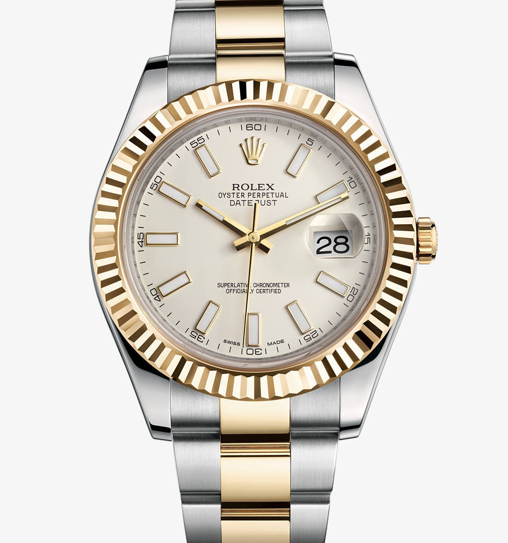 Replica Rolex Datejust II Watch: Yellow Rolesor - combination of 904L steel and 18 ct yellow gold – M116333-0005