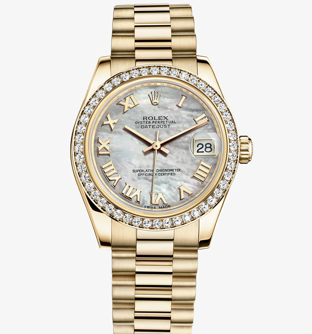 Replica Rolex Datejust Lady 31 Watch: 18 ct yellow gold – M178288-0025