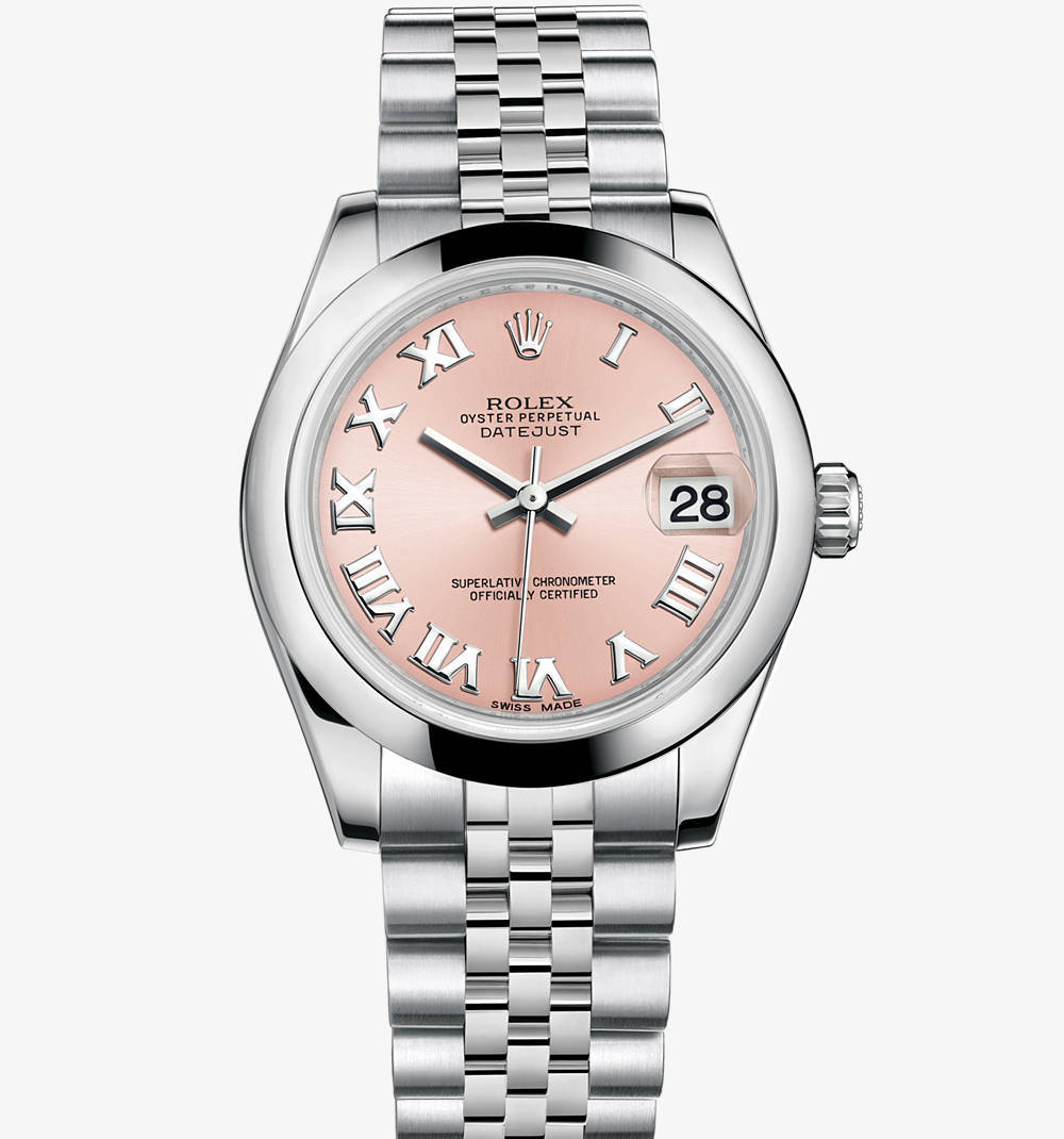 Replica Rolex Datejust Lady 31 Watch: 904L steel – M178240-0033