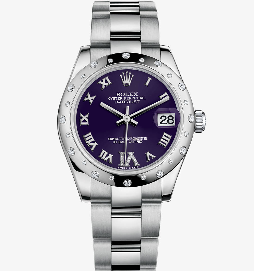 Replica Rolex Datejust Lady 31 Watch: White Rolesor - combination of 904L steel and 18 ct white gold – M178344-0016