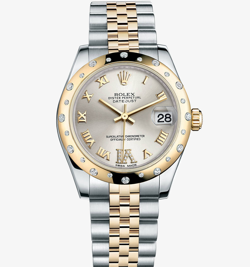 Replica Rolex Datejust Lady 31 Watch : Gul Rolesor - kombination