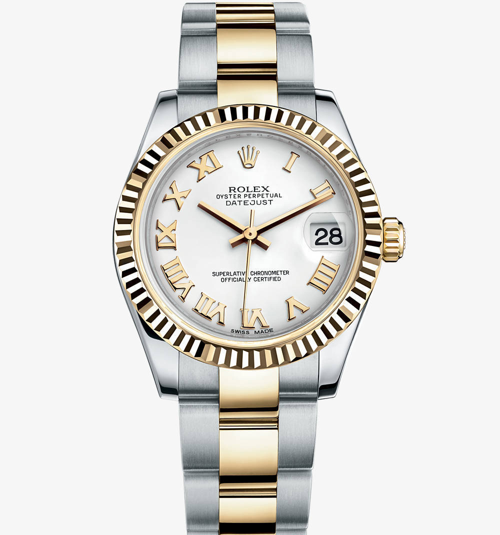 Replica Rolex Datejust Lady 31 Watch: Yellow Rolesor - combination of 904L steel and 18 ct yellow gold – M178273-0072