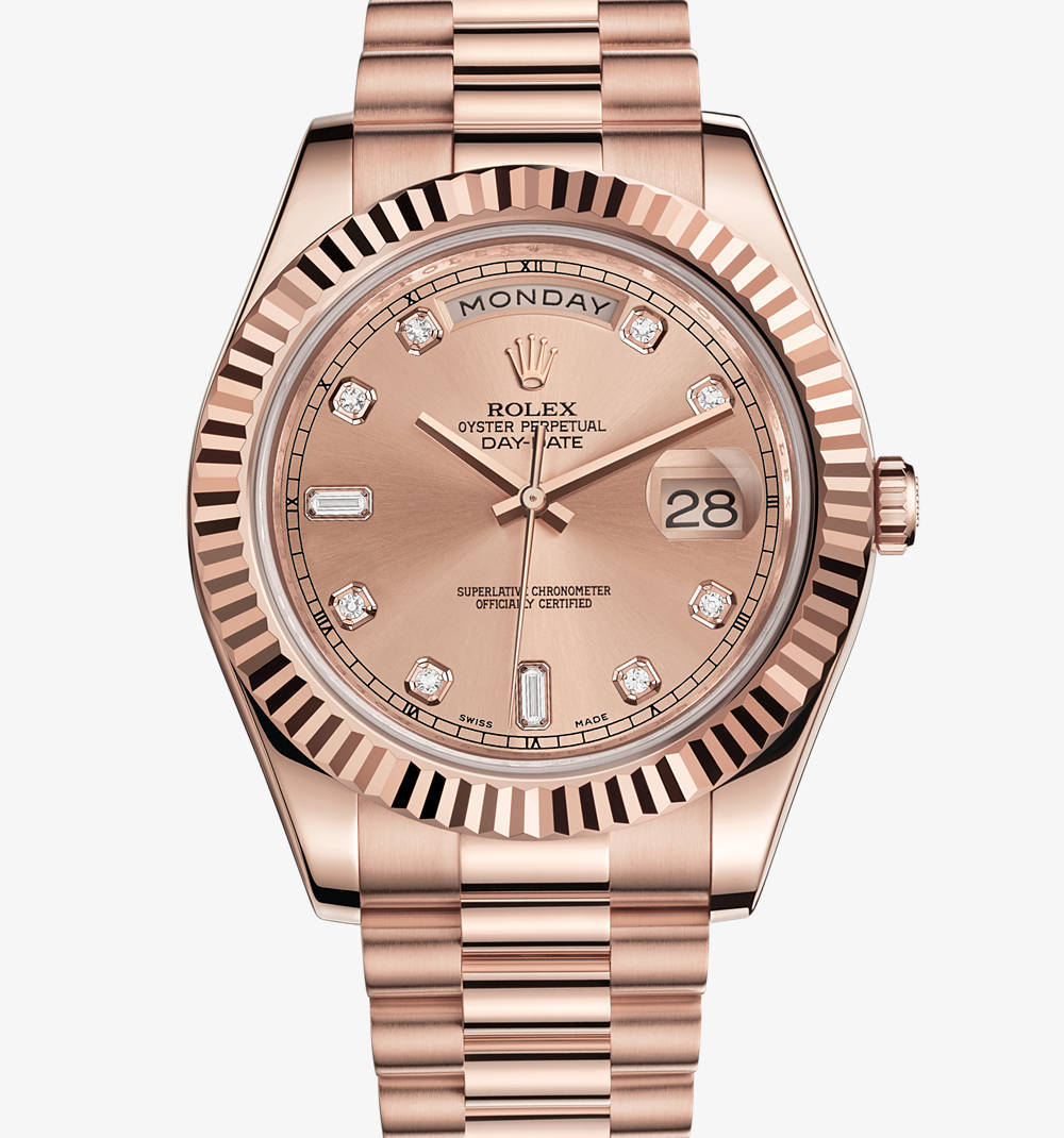 Replica Rolex Day -Date II Watch : 18 ct Everose kultaa - M21823