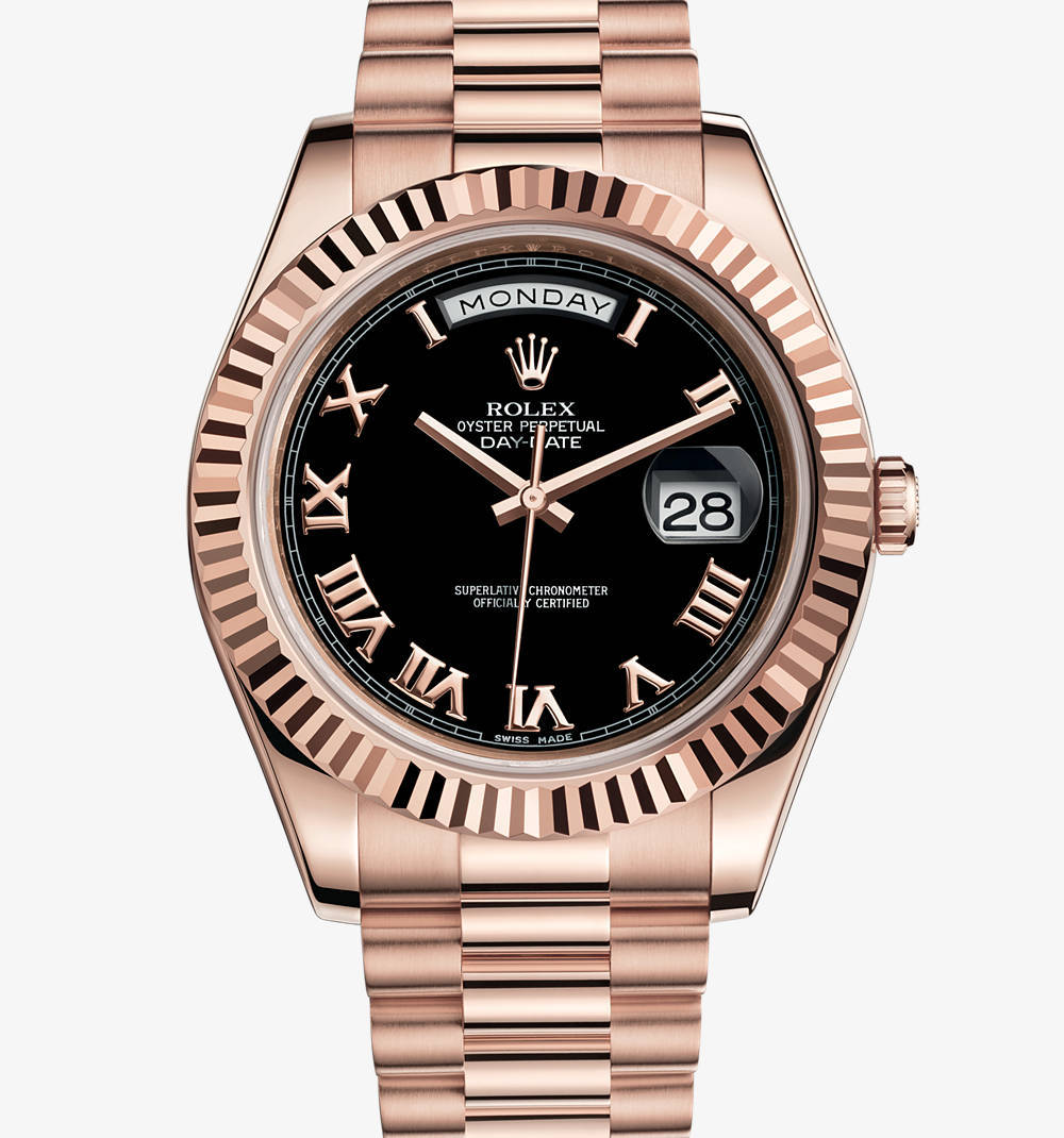 Replica Rolex Day-Date II Watch: 18 ct Everose gold – M218235-0034