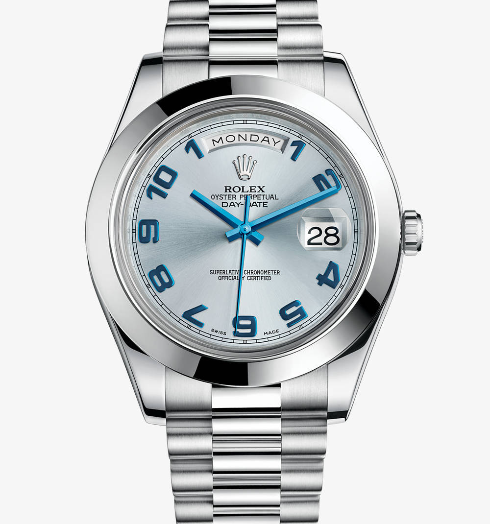 Replica Rolex Day-Date II Watch: Platinum - M218206 -0010