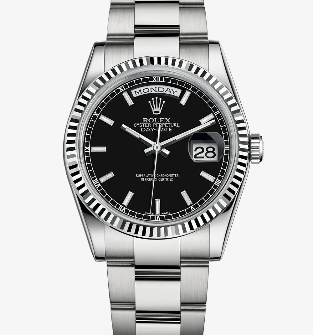Replica Rolex Day-Date Watch: 18 ct white gold – M118239-0121