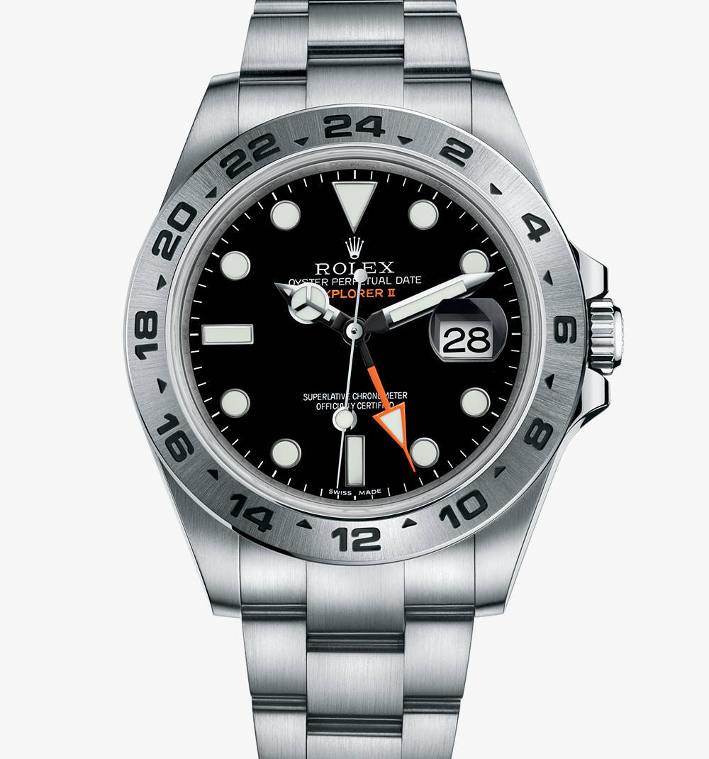 Replica Rolex Explorer II Watch : 904L stål - M216570 -0002