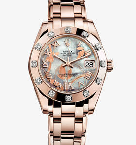 fba78b3e97a Réplica Rolex Datejust Special Edition Watch  18 ct everose ouro - M81315  -0011