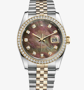 Replica Rolex Datejust 36 mm Watch : Gul Rolesor - kombinationen av 904L stål och 18 karat gult guld - M116243 - 0036
