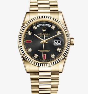 Replica Rolex Day - Date Watch : 18 ct gult guld - M118238 - 0394