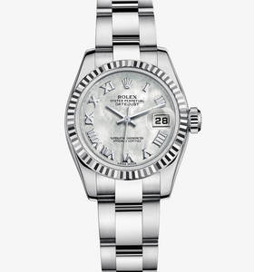 Replica Rolex Lady - Datejust Watch : Vit Rolesor - kombinationen av 904L stål och 18 karat vitguld - M179174 - 0065